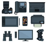 Office equipment .set of vector icon - stock illustration