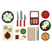 Restaurant asian cuisine Vector flat icon Stock Illustration