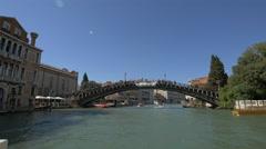 The Academy Bridge in Venice Stock Footage
