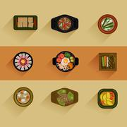 Food Illustration Korean food Vector icon Stock Illustration