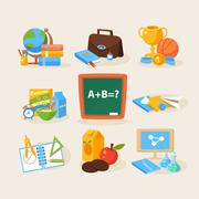 Back to school design template Stock Illustration