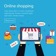 Stock Illustration of On line store, shopping