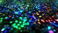 Stock Video Footage of Neon Pixels Equalizer VJ Loop