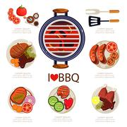 BBQ Infographics Stock Illustration