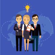 Business group director chief boss. The company staff - stock illustration
