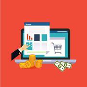 Online business Stock Illustration
