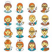 Profession people - stock illustration