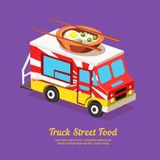 Stock Illustration of Mobile Food Van