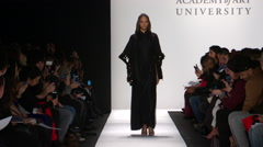 Academy of Art Fashion Show Fall 2015 Collection NYFW 10 Stock Footage