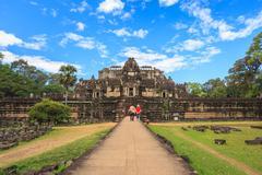 Baphuon temple at Angkor Wat - Siem Reap - Cambodia Stock Photos