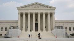 The U.S. Supreme Court Stock Footage