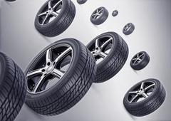 Stock Illustration of New sweet Tire Background