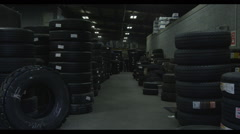 storage room with tires - stock footage