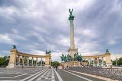 Heroes' Square - Budapest - Hungary - stock photo