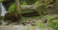 A Waterfall in Bradford West Yorkshire Stock Footage