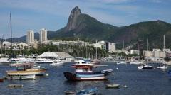 Boats on Guanabara bay in Rio de Janeiro, Brazil Stock Footage