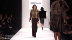 Art Hearts Fashion Hallie Sara Fashion Show Fall 2015 Collection - stock footage