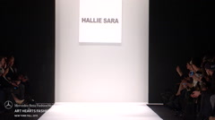 Art Hearts Fashion Hallie Sara Fashion Show Fall 2015 Collection Stock Footage