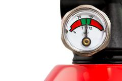 Manometer of a Fire Extinguisher - stock photo