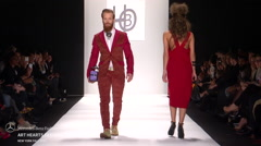 Art Hearts Fashion HBO Fashion Show Fall 2015 Collection NYFW 03 Stock Footage