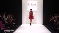 Art Hearts Fashion LI Jon Fashion Show Fall 2015 Collection NYFW Stock Footage