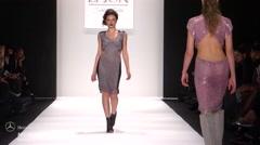 Art Hearts Fashion LI Jon Fashion Show Fall 2015 Collection NYFW Stock Footage