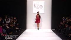 Art Hearts Fashion LI Jon Fashion Show Fall 2015 Collection NYFW - stock footage