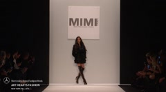 Art Hearts Fashion Mimi Tran Fashion Show Fall 2015 Collection Stock Footage