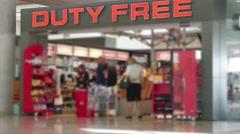 Duty-free shop. No focus. - stock footage