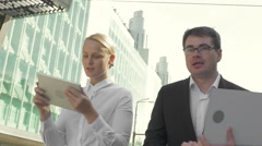 Stock Video Footage of Business in a hurry