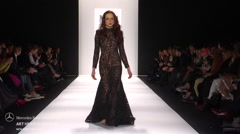 Art Hearts Fashion MT Costello Fashion Show Fall 2015 Collection Stock Footage