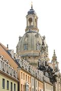 Cupola of Dresden Frauenkirche Stock Photos