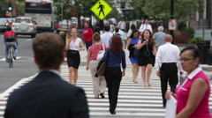 People crossing the street in Washington D.C. (5) Stock Footage
