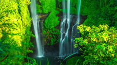 4K Timelapse. Sekumpul waterfall Hidden Virgin Paradise In Bali Stock Footage