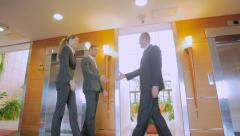 Meeting of business people in the hall Hotels Stock Footage