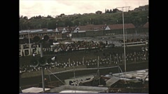 Vintage 16mm Film, 1951, Calgary, the stampede rodeo #2 Stock Footage