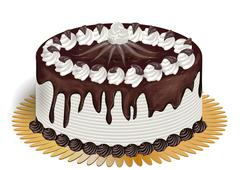 cake with chocolate - stock illustration