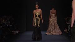 Badgley Mischka Fashion Show Fall 2015 Collection NYFW 02 Stock Footage