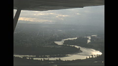 Stock Video Footage of Vintage 16mm Film, 1951, Calgary, aerial Calgary rare