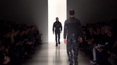 Calvin Klein Fashion Show Men's Fall 2015 Collection NYFW 04 Stock Footage