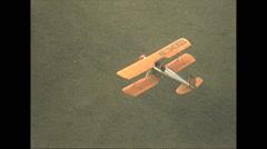 Vintage 16mm Film, 1951, Calgary, aerial biplane in flight, Meyers Stock Footage