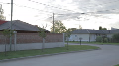 Small argentine village street sunset - stock footage