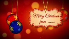 Winter holidays merry christmas and happy new year Stock After Effects