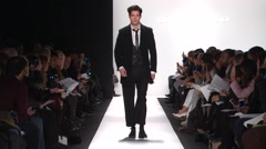 Carmen Marc Valco Fashion Show Fall 2015 Collection NYFW 03 Stock Footage