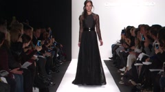 Carmen Marc Valco Fashion Show Fall 2015 Collection NYFW 05 Stock Footage