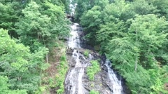 Amicalola Falls State Park Water Falls Down Stock Footage