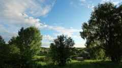 Movement of the clouds over the village Babina Gora, Kungurskiy District, Stock Footage