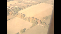 Vintage 16mm Film, 1951, Midwest US, aerial fall colours low level Stock Footage