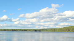 Movement of clouds on the river Revda. Pochinok village, Sverdlovsk region Stock Footage