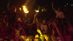 People In The Crowd At A Concert Stock Footage